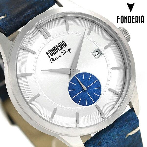 フォンデリア ストリームライナー 41mm 革ベルト メンズ 腕時計 6A009USB FONDERIA 時計