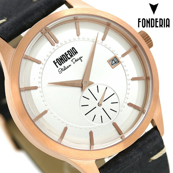 フォンデリア ストリームライナー 41mm 革ベルト メンズ 腕時計 6R009US1 FONDERIA 時計