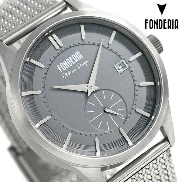 フォンデリア ストリームライナー 41mm メンズ 腕時計 8A009UG1 FONDERIA グレー 時計