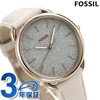 fosshiru手錶女士皮革皮帶石英34.5mm灰色×白ES4421 FOSSIL泰勒鐘表
