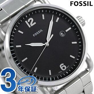 fosshirukomyuta 42mm石英人手錶FS5391 FOSSIL黑色鐘表