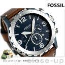 フォッシル ネイト クオーツ メンズ 腕時計 JR1504 ネイビー×ブラウン