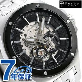 【今なら店内ポイント最大44倍】 フルボ デザイン F2501 自動巻き メンズ 腕時計 F2501BKSS Furbo Design スケルトン 時計
