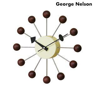 ジョージ ネルソン 掛時計 George Nelson GN397WB ボール クロック ウォルナット