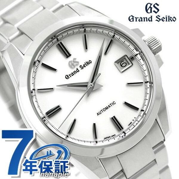 【当店なら!さらにポイント+4倍 25日10時〜】グランドセイコー 9Sメカニカル 42mm メンズ 腕時計 SBGR255 GRAND SEIKO ホワイト 時計【あす楽対応】