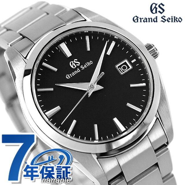 【5400円割引クーポン!20日00時〜21日9時59分まで】 グランドセイコー 9Fクオーツ 37mm メンズ 腕時計 SBGX261 GRAND SEIKO ブラック 時計