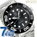 f95cba3ad37 Gucci clock diver 46mm men s watch YA126279 GUCCI black  tomorrow easy  correspondence