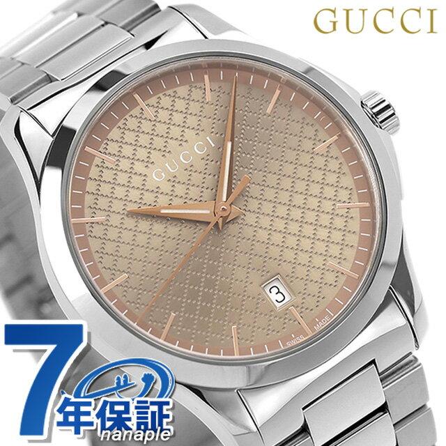 【25日なら全品5倍以上!店内ポイント最大46倍】 グッチ 時計 メンズ GUCCI 腕時計 Gタイムレス 40mm YA1264053 ブラウン