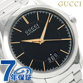 グッチ 時計 メンズ GUCCI 腕時計 Gタイムレス 40mm 自動巻き YA126432 ブラック【あす楽対応】