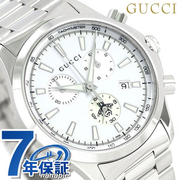 【当店なら!さらにポイント+4倍!30日23時59分まで】グッチ 時計 メンズ GUCCI 腕時計 Gタイムレス 39mm ホワイト YA126472