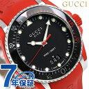 グッチ 時計 メンズ GUCCI 腕時計 ダイヴ 43mm YA136309 ブラック×レッド
