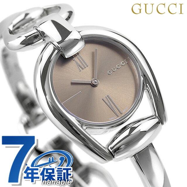 グッチ 時計 レディース GUCCI 腕時計 ホースビット 28mm YA139501 ブラウン