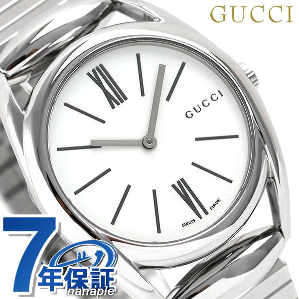 グッチ 時計 レディース GUCCI 腕時計 ホースビット 35mm クオーツ YA140405 ホワイト【あす楽対応】