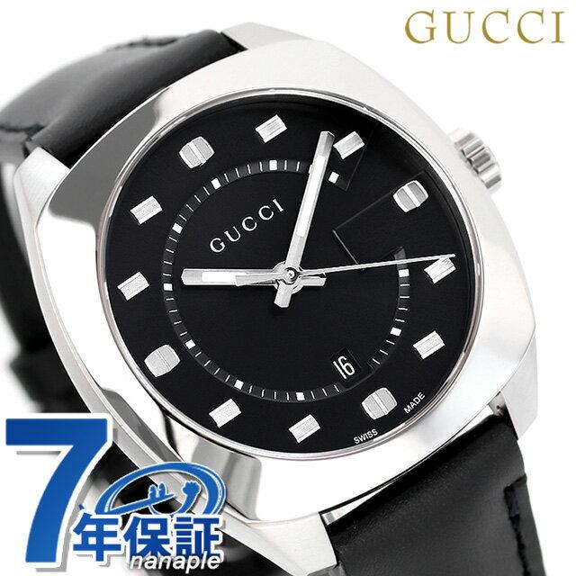 グッチ 時計 メンズ GUCCI 腕時計 GG2570コレクション 41mm YA142307 革ベルト ブラック【あす楽対応】