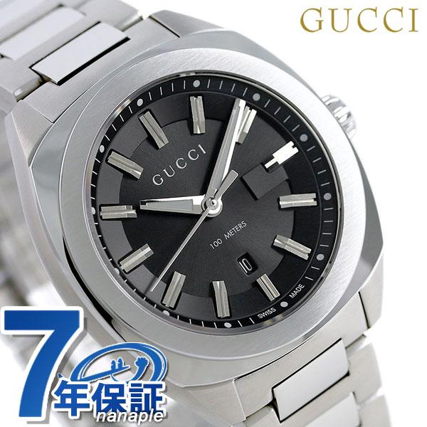 グッチ 時計 レディース GUCCI 腕時計 GG2570 コレクション 37mm ブラック YA142401