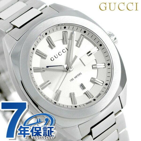 グッチ 時計 レディース GUCCI 腕時計 GG2570 コレクション 37mm シルバー YA142402【あす楽対応】