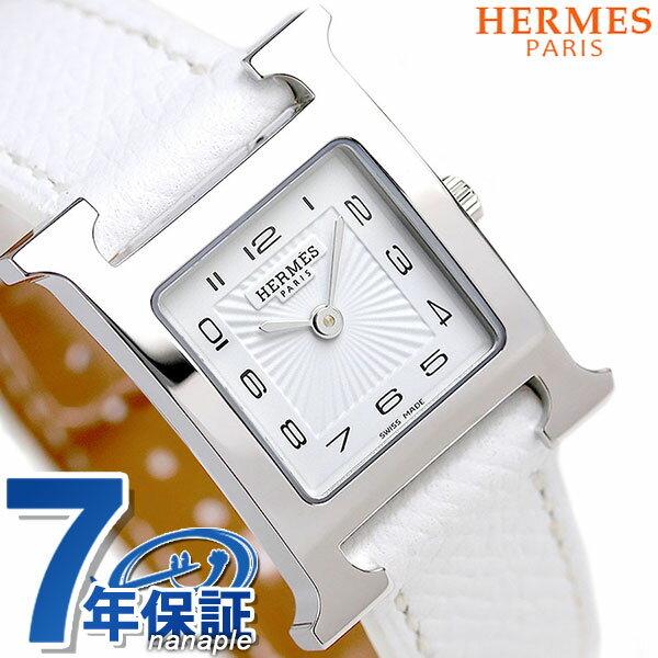 【エントリーでさらに3000ポイント!26日1時59分まで】 036700WW00 エルメス Hウォッチ 21mm スイス製 レディース 腕時計 HERMES ホワイト 新品 時計