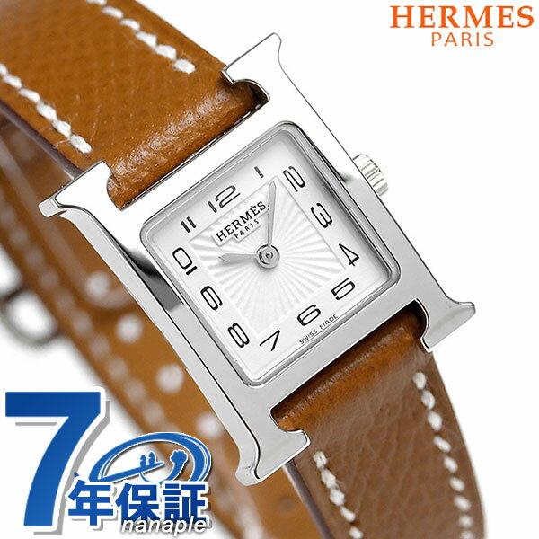 【エントリーでさらに3000ポイント!26日1時59分まで】 037875WW00 エルメス Hウォッチ ミニ 17mm スイス製 レディース HERMES 腕時計 新品 時計