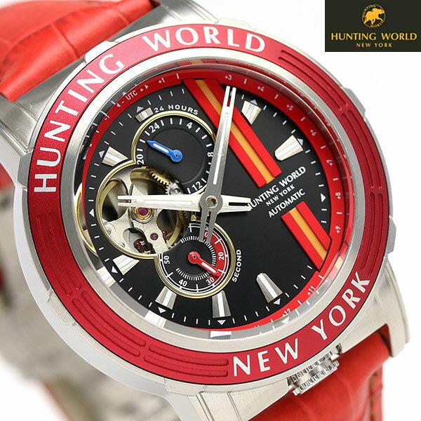 【当店なら!さらにポイント+4倍!21日1時59分まで】 ハンティングワールド アディショナルタイム 41mm 自動巻き HW993RD HUNTING WORLD 腕時計 時計