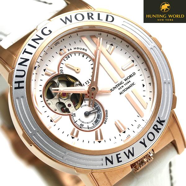 ハンティングワールド アディショナルタイム 41mm 自動巻き HW993WH HUNTING WORLD 腕時計 時計