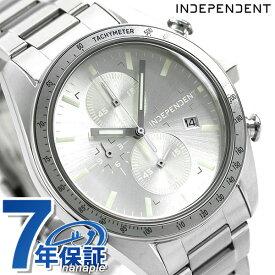 【20日はさらに+4倍でポイント最大27倍】 インディペンデント メンズ 腕時計 スポーティ クロノグラフ BA7-115-91 INDEPENDENT シルバー 時計