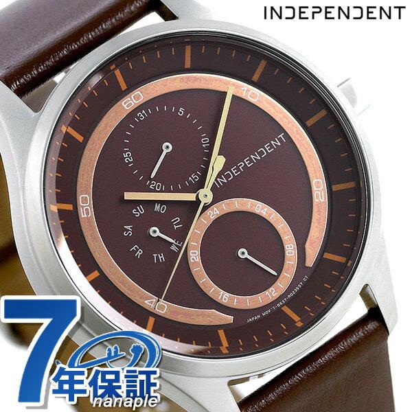 【当店なら!さらにポイント+4倍!21日1時59分まで】 インディペンデント ソーラー 革ベルト メンズ 腕時計 KB1-317-90 INDEPENDENT ブラウン 時計【あす楽対応】