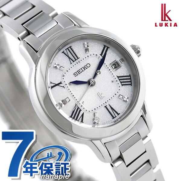 【ノベルティ付き♪】セイコー ルキア レディダイヤ 電波ソーラー チタン 腕時計 SSQW035 SEIKO LUKIA 時計【あす楽対応】