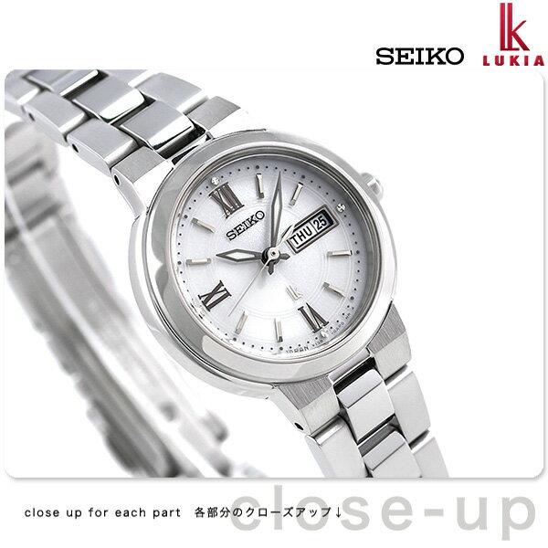 【ノベルティ付き♪】セイコー ルキア レディース ソーラー 腕時計 SSVN029 SEIKO LUKIA シルバー