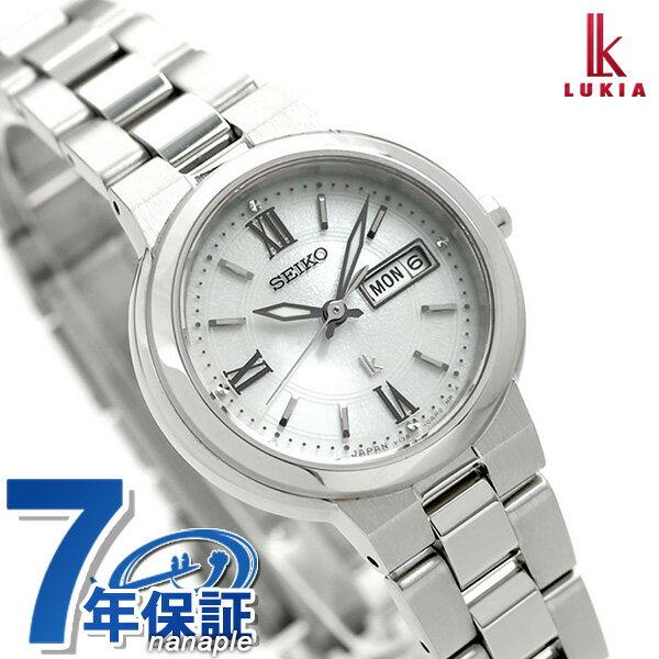 セイコー ルキア レディース ソーラー 腕時計 SSVN029 SEIKO LUKIA シルバー【あす楽対応】