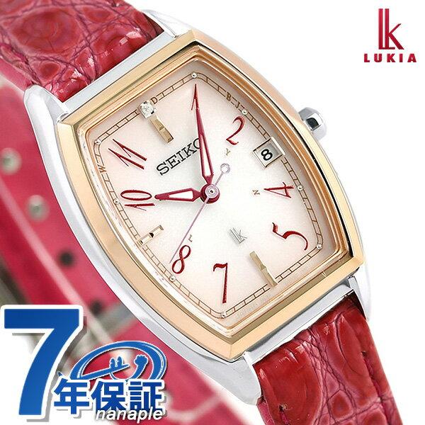 【ToDoノートをプレゼント♪】セイコー ルキア レディダイヤ トノー 限定モデル 電波ソーラー SSVW122 SEIKO LUKIA 腕時計 ピンク【あす楽対応】