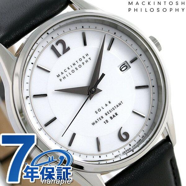 マッキントッシュ フィロソフィー ソーラー メンズ 腕時計 FBZD989 MACKINTOSH ホワイト×ブラック【あす楽対応】