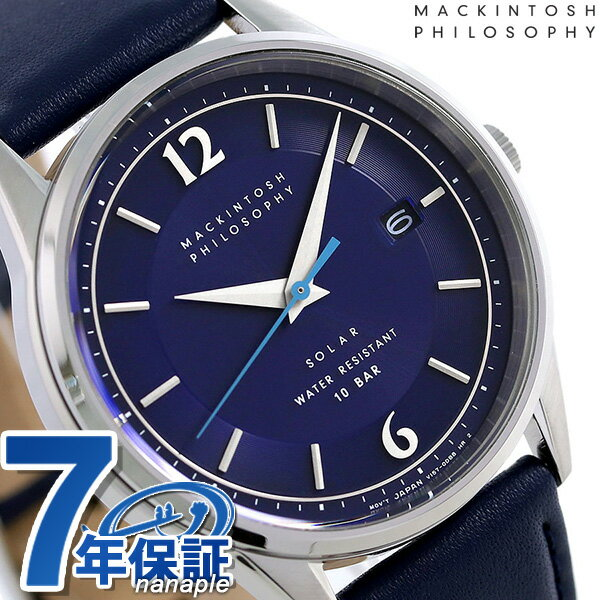 マッキントッシュ フィロソフィー ソーラー メンズ 腕時計 FBZD990 MACKINTOSH ネイビー【あす楽対応】
