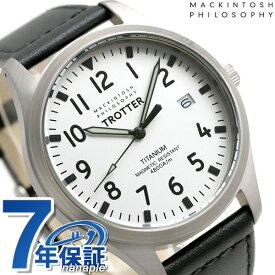 マッキントッシュ フィロソフィー チタン メンズ 腕時計 FCZK987 MACKINTOSH トロッター ホワイト×ブラック 革ベルト 時計【あす楽対応】