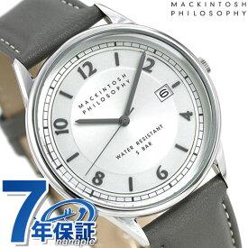 【今なら店内ポイント最大44倍】 マッキントッシュ フィロソフィー 革ベルト メンズ 腕時計 FCZK990 MACKINTOSH グレー 時計