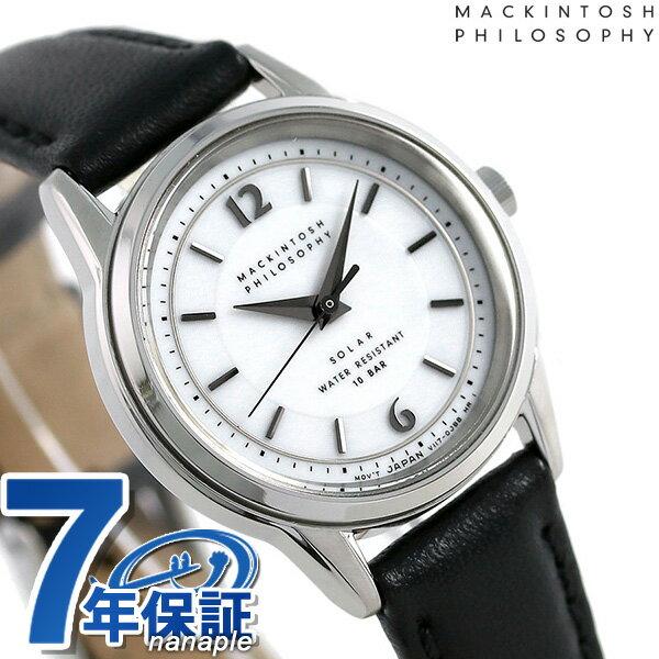 マッキントッシュ フィロソフィー ソーラー レディース 腕時計 FDAD989 MACKINTOSH ホワイト×ブラック【あす楽対応】
