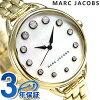 標記雅各布貝蒂36石英女士MJ3509 MARC JACOBS手錶白外殻
