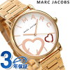Mark Jacobs clock classical music Lady's watch MJ3589 MARC JACOBS white X pink gold