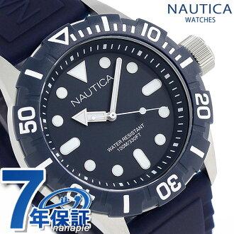 노티카 NSR100 쿼츠 맨즈 손목시계 A11601G NAUTICA 네이비