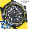 Nautica NSR105 quartz men watch NAD13527G NAUTICA black X yellow