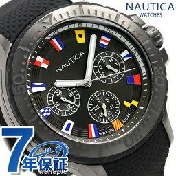 notika NAUTICA人手錶旗子全部黑色49mm NAPAUC007奥克蘭鐘表