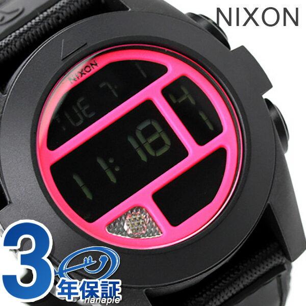 ニクソン 腕時計 メンズ nixon バハ A489480 ブラック/ブライトピンク 時計