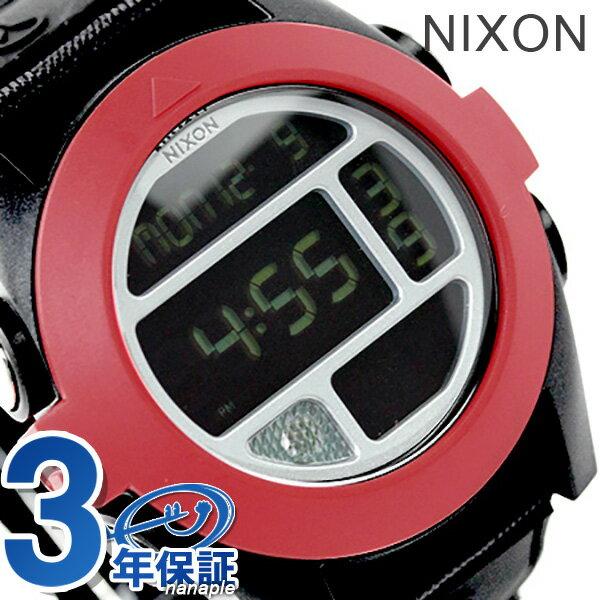 ニクソン 腕時計 nixon バハ A489760 LEDフラッシュライト オールブラック/レッド 時計【あす楽対応】