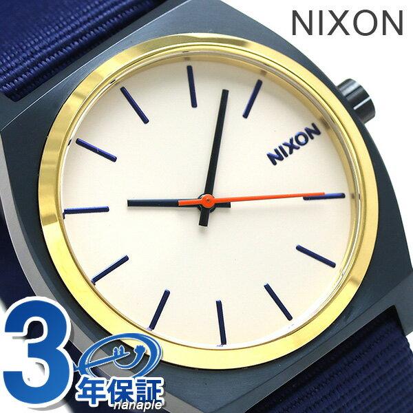 ニクソン 腕時計 nixon タイムテラー A0452452 ブルー/ゴールド/ホワイト 時計