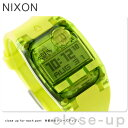ニクソン A3362044 nixon ニクソン コンプ S デュアルタイム クロノグラフ レディース 腕時計 オールネオングリーン【…
