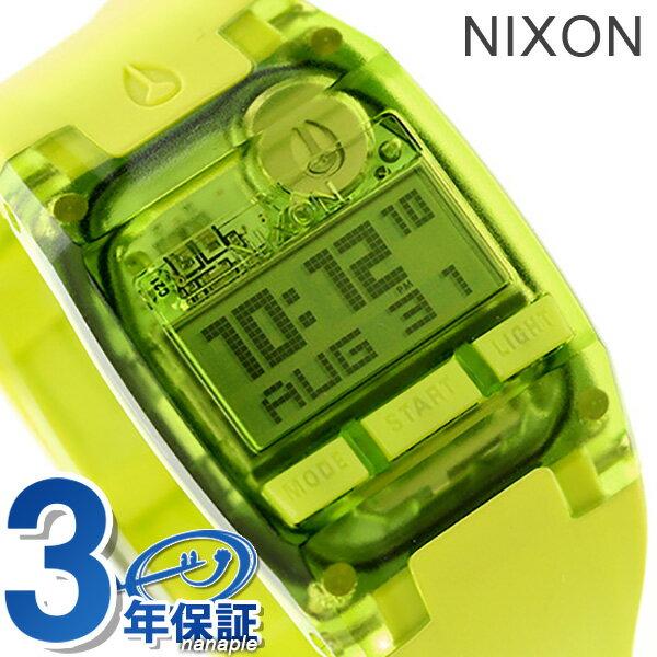 ニクソン 腕時計 レディース クロノグラフ nixon A3362044 コンプ S デュアルタイム オールネオングリーン