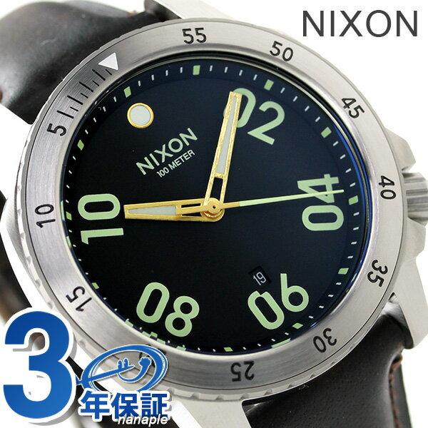 ニクソン 腕時計 メンズ nixon A508019 レンジャー レザー ブラック/ブラウン 時計【あす楽対応】
