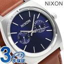 ニクソン A9272307 nixon タイムテラー デラックス レザー 腕時計 ネイビーサンレイ/ブラウン【あす楽対応】