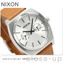 ニクソン A9272310 nixon タイムテラー デラックス レザー 腕時計 シルバーサンレイ/サドル【あす楽対応】