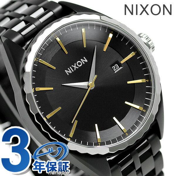 ニクソン 腕時計 レディース nixon A9342126 ミンクス クオーツ オールブラック/ゴールド/シルバー 時計【あす楽対応】