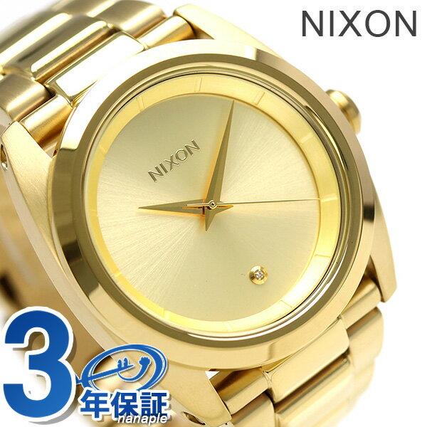 ニクソン 腕時計 レディース nixon A935502 クイーンピン オールゴールド 時計【あす楽対応】